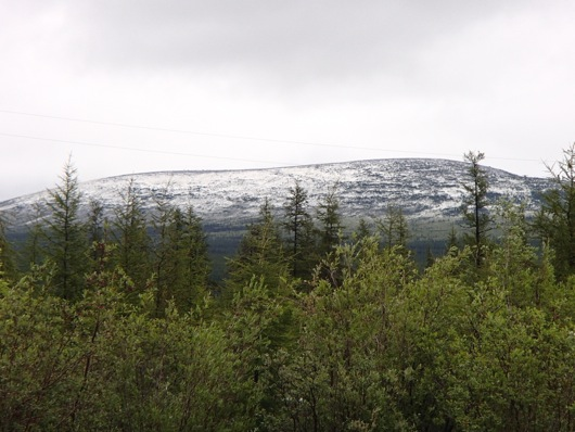 A final view of Rodinka Mountain dusted in July 23rd snow.
