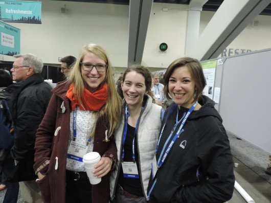 Erin Seybold (2009-10 Polaris Alum; Duke University), Ludda Ludwig (2011-13; University of Alaska Fairbanks), and Laurel Lynch (2011; Colorado State University).