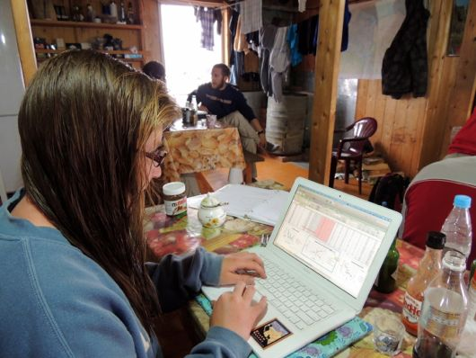 Kenzie works with the data to understand the patterns in the tundra.